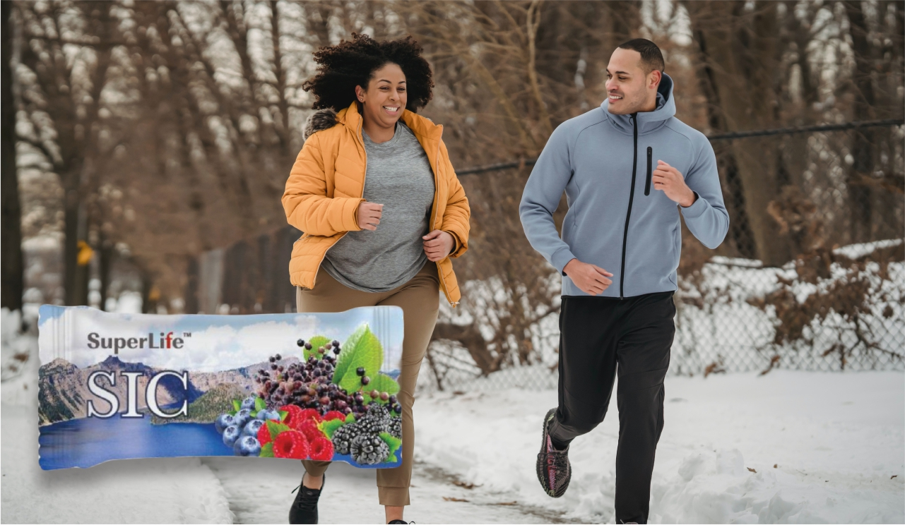 SIC satchet and healthy running couple